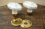陶器ドアノブセット