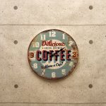 アンティークエンボスクロック[Coffee]