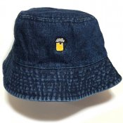BEER BUCKET HAT / Dark Blue Denim