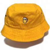 BEER BUCKET HAT / Yellow
