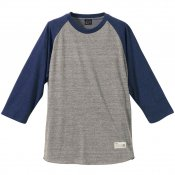 Tri-Blend Raglan / Vintage Heather x Vintage Heather Navy