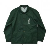 Water Resistant Nylon Coach Jacket / Green