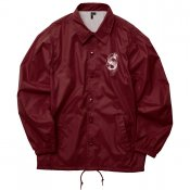 Nylon Coach Jacket / Burgundy