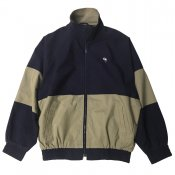Stone wash 2 tone jacket / Navy x Beige