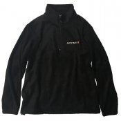 Quarter Zip Fleece Pullover / Black