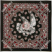 Paisley Bandana / Black/Red