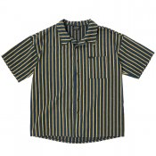 Vertical striped shirt / Navy