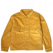 Corduroy wide CPO jacket / Yellow
