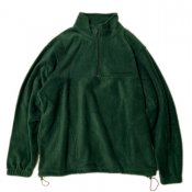 Hulf zip fleece pullover / Green