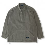 Corduroy Loose Pullover Shirt / Olive