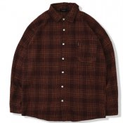 Retro Plaid Shirt / Brown