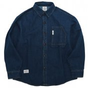Loose wash denim  / Blue