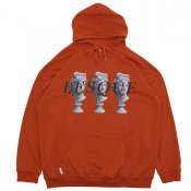 STONE STATUE LOGO HOODIE / Red