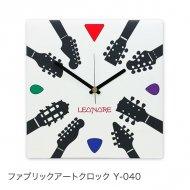 ファブリックアートクロック Y-040