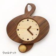 ト音記号木製振子時計