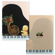 山田和明クリアファイル くまホルンピアノ