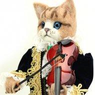 綿アート猫 男の子