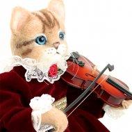 綿アート猫 女の子
