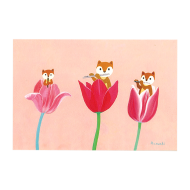 山田和明ポストカード「三姉妹」