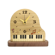寄せ木ピアノ置時計