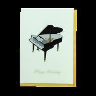 バースデーカード ハンドメイド ピアノ