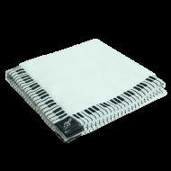 タオルハンカチーフ鍵盤 ホワイト