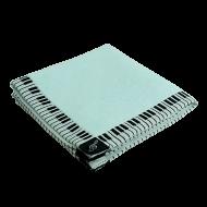 タオルハンカチーフ鍵盤 ブルー