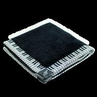 タオルハンカチーフ鍵盤 ブラック