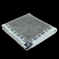 タオルハンカチーフ鍵盤 グレー