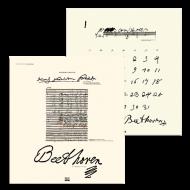 偉人の生涯と筆跡カレンダー2020 ルートヴィヒ・ヴァン・ベートーヴェン
