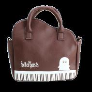 ピアノ風ショルダーバッグ ブラウン