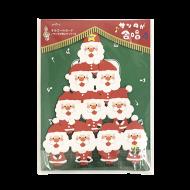 Xmas立体オルゴールカード 合唱サンタたち