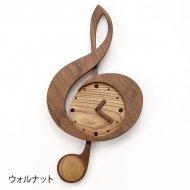木製振子時計ト音記号