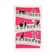 ドイツのマジック布きん ピアノねこ