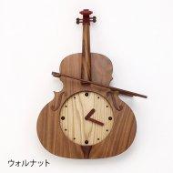 ヴァイオリン木製振子時計
