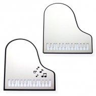 ステンレスミラー130 ピアノ鍵盤 ブラック
