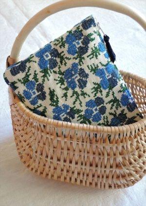 【ALDIN】青い花のポーチ