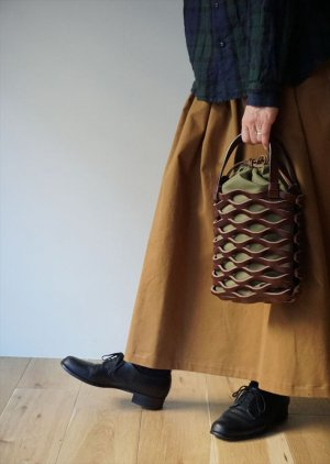 【Teha'amana】LETHER MESH TOTE SS