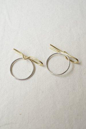 【Art Jewelry Marble】2Way輪っか イヤークリップ