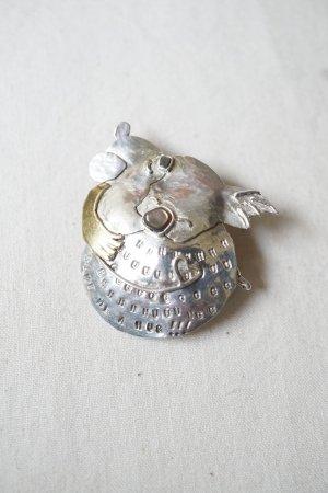 【Art Jewelry Marble】コアラの親子 ブローチ