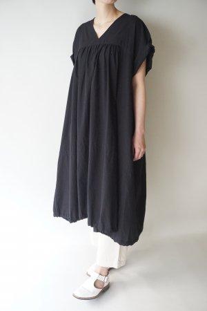 【Honnete】H/SLV V Gather Dress