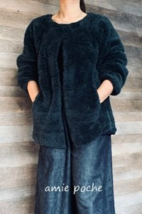 ラグランゆったりジャケット M〜L