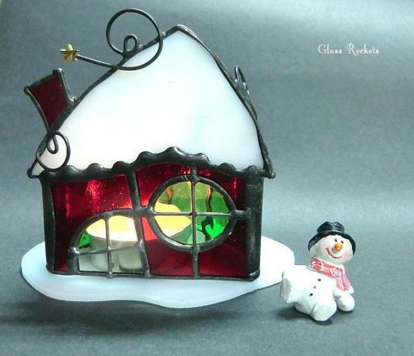 クリスマス「サンタハウス 」キャンドル ランプ