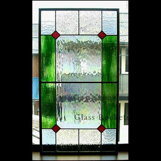 「幾何学模様km02」ステンドグラスパネル