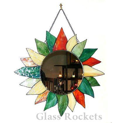「ソレイユ」ステンドグラスミラー