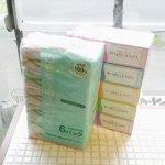100%再生紙ティッシュペーパー箱あり 200組×5