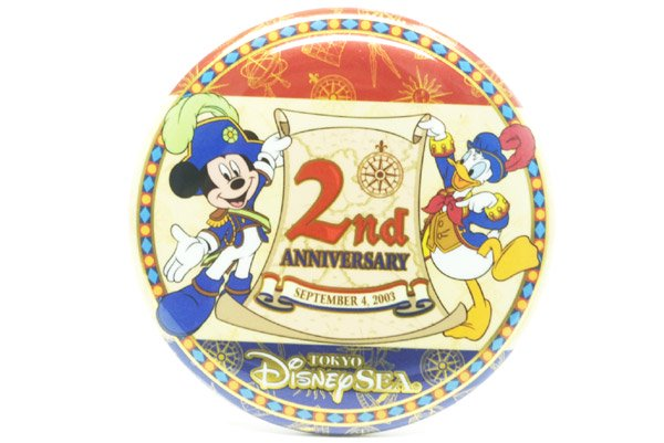 Tokyo DisneySea・Button Badge/東京ディズニーシー・缶バッチ「2nd ...