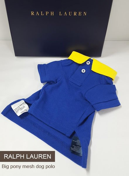 RALPH LAUREN  Big Pony Mesh Dog Polo...