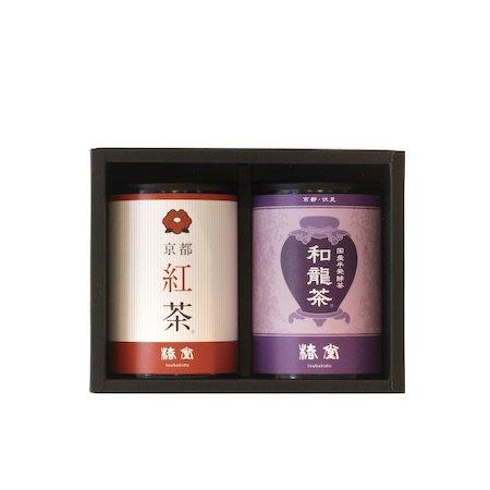 国産烏龍茶・京都紅茶セット【ミニ缶】