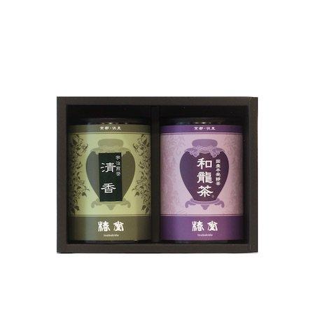 国産烏龍茶・宇治煎茶セット【ミニ缶】